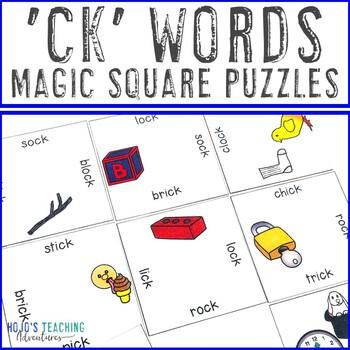 CK Ending Words Literacy Center Game