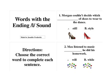 Words Ending with the Sound of L