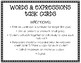 Words, Equations, Tables & Graphs Task Cards