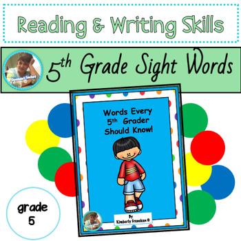 Vocabulary for 5th Grade: Literacy Center