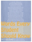 Words Every Student Should Know!