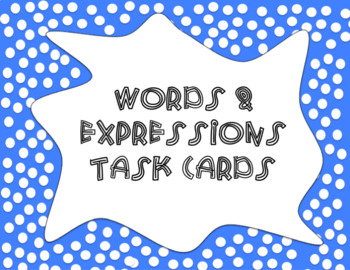 Words & Expressions Task Cards