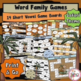 Word Family Games using Short Vowels