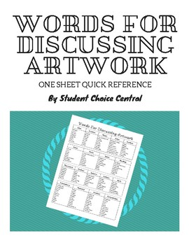 Words For Discussing Artwork