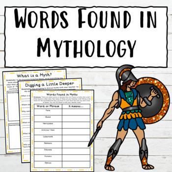 Words Found in Mythology RL.4.4
