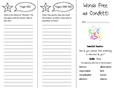 Words Free as Confetti Trifold - Wonders 5th Grade Unit 4 Week 5