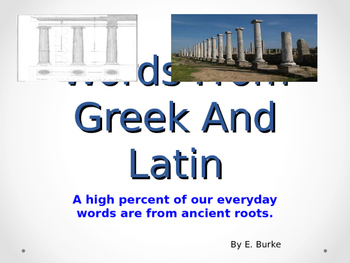 Words From Latin And Greek Roots