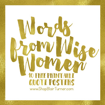 photograph about Printable Posters named Phrases Against Sensible Girls Totally free Printable Quotation Posters