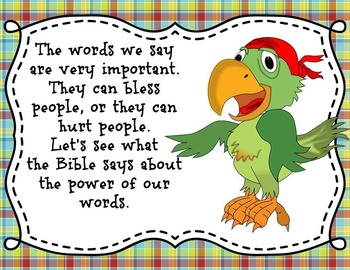Words Have Power - Bible Task Cards