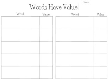 Words Have Value!