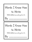 Words I Can Write Book