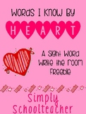 Words I Know By Heart Freebie