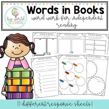 Words In Books - Word Work for Independent Reading