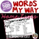 Words My Way Home Lists and Data Bundle - Third Edition
