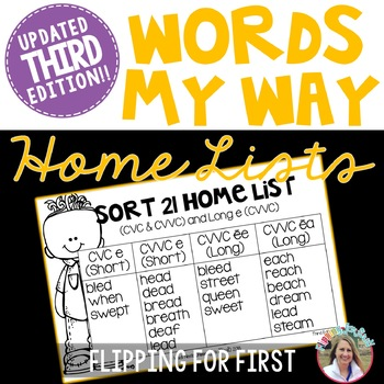 Words My Way Within Word Pattern Spellers Home Lists – Third Edition