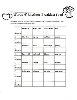 Words N' Rhythm - The Hungry Version