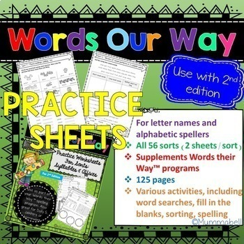 Words Our Way - Affixes and Syllables: Practice Worksheets