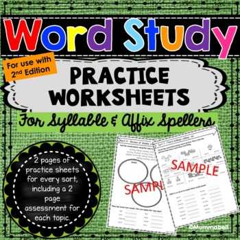Words Our Way - Affixes and Syllables: Practice Worksheets 2nd Edition
