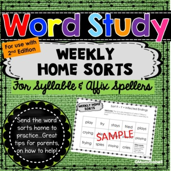 Words Our Way - Syllables and Affixes: Weekly Home Sorts