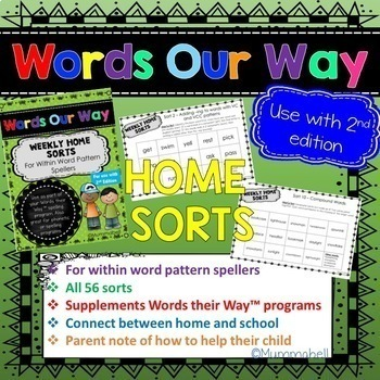 Words Our Way - Syllables and Affixes: Weekly Home Sorts 2nd Edition