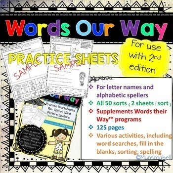 Words Our Way - Within Word Pattern Spellers: Practice Worksheets 2nd Edition