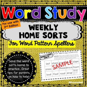 Words Our Way - Within Word Patterns: Weekly Home Sorts