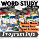 Word Study Program Explained | FREEBIE to supplement Words