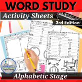 Words Our Way for Alphabetic Spellers Practice Sort Worksheets 3rd Edition