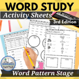 Words Our Way for Within Word Pattern Spellers Practice Worksheets 3rd Edition