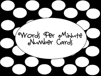 Words Per Minute Number Cards