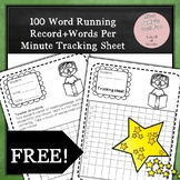 Words Per Minute Tracking Sheet