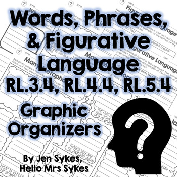 Words Phrases and Figurative Language Fiction Graphic Org. RL.3.4 RL.4.4 RL.5.4