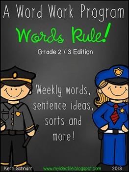 Words Rule! BUNDLE:spelling patterns, word sorts, posters,