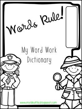 Words Rule!  Word Work Dictionary