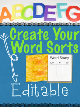 Words Sorts Creator!!  Auto-Populating Create Your Own Worksheets!