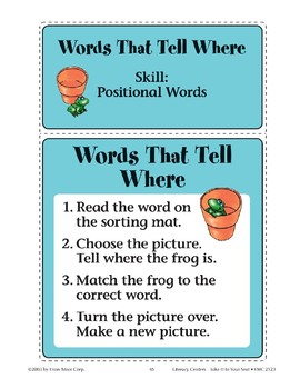 Words That Tell Where (Positional Words)