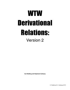 Words Their Way 2nd edition: Derivational Relations: Word Hunts- Unit 1 Prefixes
