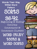 Words Their Way 36-42 Word Sorts and Word Study / Spelling Tests