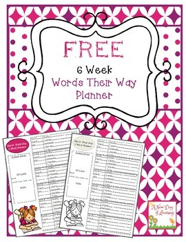 Words Their Way 6 Week Planner