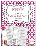 Words Their Way 6 Week Planner
