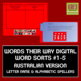 Words Their Way Digital Sorts #1-5 Letter Name/Alphabetic AUSTRALIAN FREE