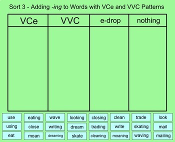 Words Their Way AUSTRALIAN Sorts #1-5 Smartboard - Syllables & Affixes FREEBIE
