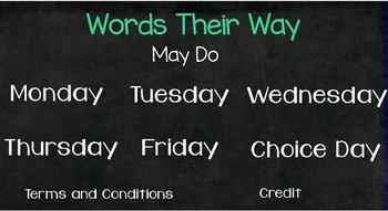 Words Their Way Activites
