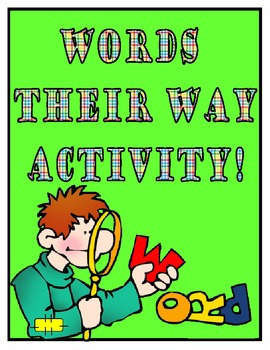 Words Their Way Activity