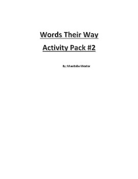 Words Their Way Activity Pack 2