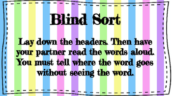 Words Their Way Activity Posters