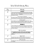 Words Their Way Activity Sheet