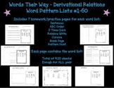 Words Their Way Homework - Derivational Relations #1-60 (Blue Book)