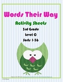 Words Their Way Activity Sheets Level C Sorts 1-36