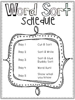 Words Their Way Aligned Lesson and Activities for 1st Graders Unit 4